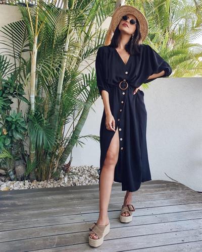 שמלת ג׳ורדן - שחורה