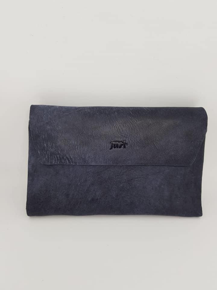 ארנק עור 6005  זמש כחול