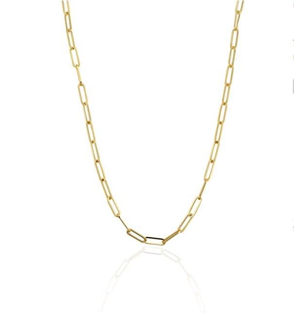 """שרשרת זהב דגם אטב 42 ס""""מ"""