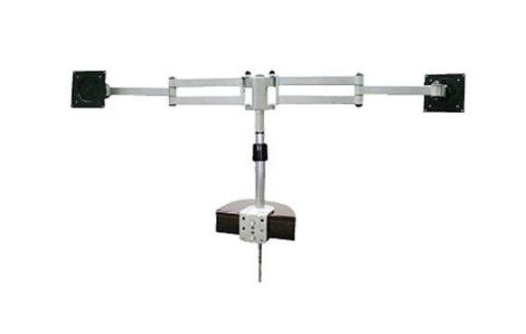מתקן  זרוע שולחנית  דו מפרקית עם שני זרועות לשני מסכים  PVA-820