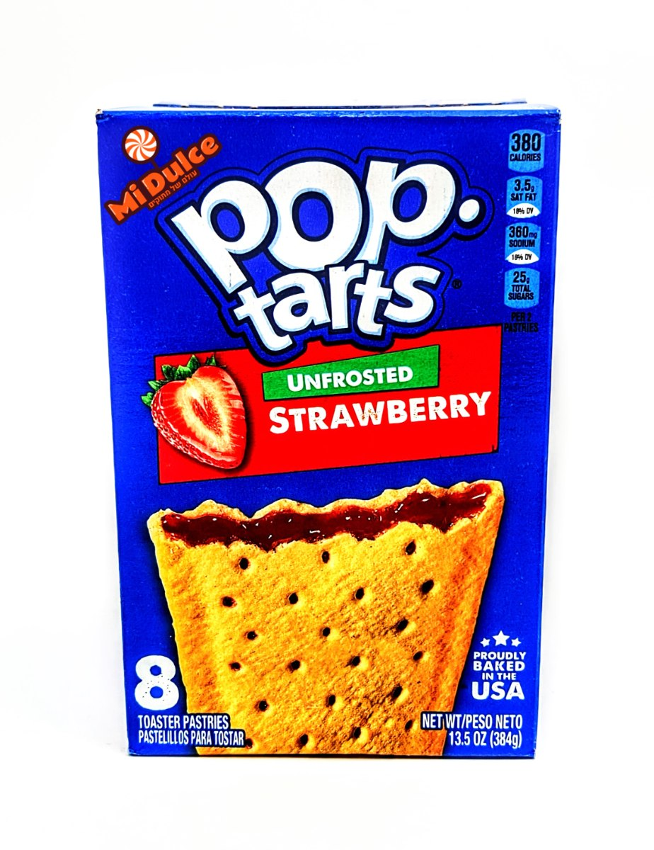 Pop Tarts Unfrosted Strawberry