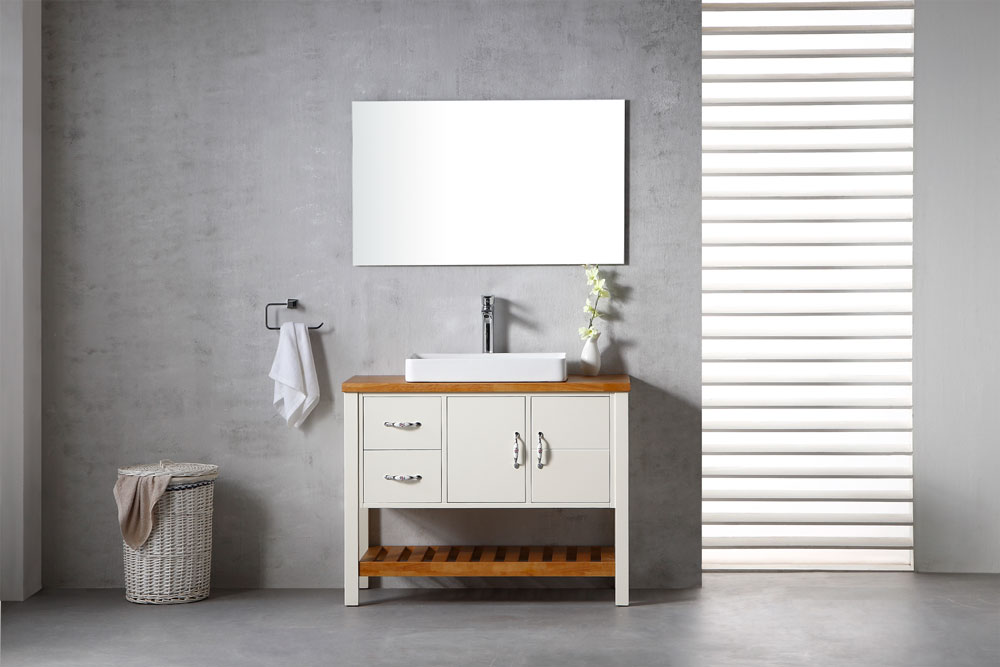 ארון אמבטיה עומד עץ מלא דגם וויזין VISION