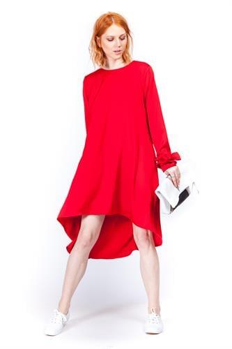 שמלה אליסה אדום