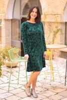 שמלת קטיפה בצבע ירוק