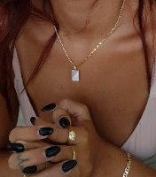 שרשרת זהב ספייסי שחור\לבן