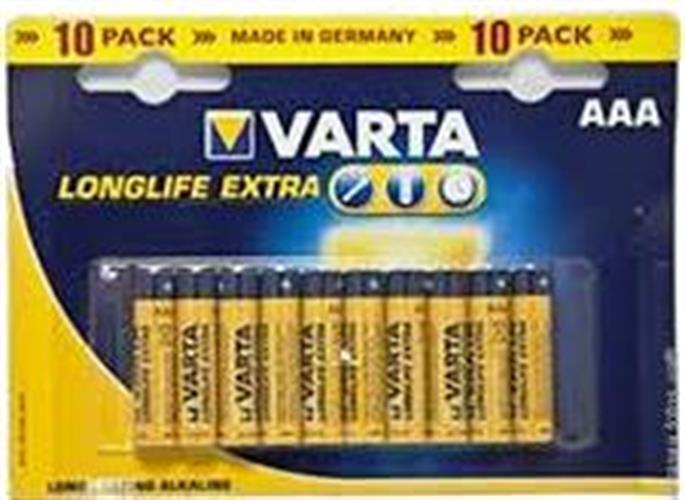 סוללות אלקליין ALKALINE AAA VARTA כמות 100 יחידות