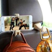וו תלייה משולבת עם מחזיק סמארטפון לפנים הרכב