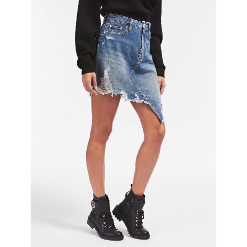 חצאית ג׳ינס אסימטרית GUESS