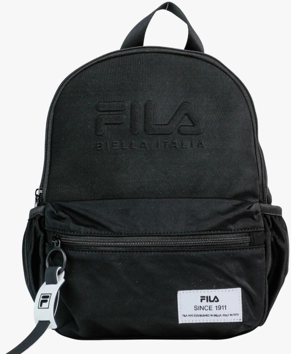 תיק גן שחור כיתוב מובלט FILA