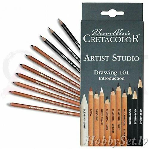עפרונות רישום וציור בסט CRETACOLOR