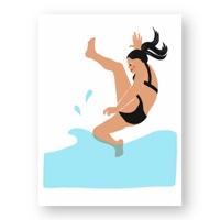 """אשה קופצת למים - מתוך """"החיים יפים"""", הסדרה האופטימית"""