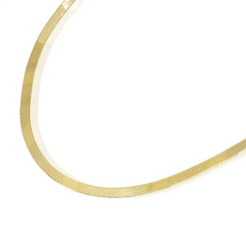 שרשרת זהב לאישה דגם נחש 42 סמ 3.8 ממ