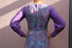 שמלת ערב וינטג' רקומה סגולה מידה S