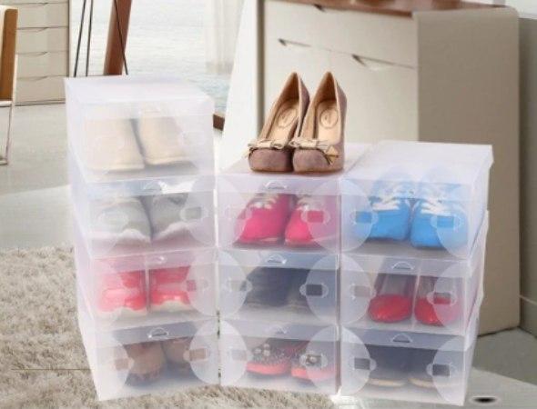 סט 6 קופסאות לאחסון וסידור נעליים