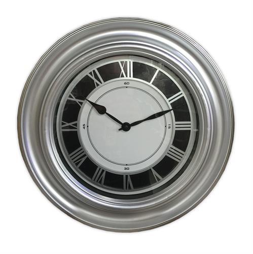 שעון קיר מעוצב צבע כסף 1605-2