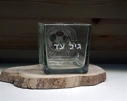 עציץ סוקולנטים ריבוע זכוכית