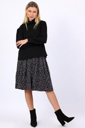 חצאית מידי נינה שחור פרחוני
