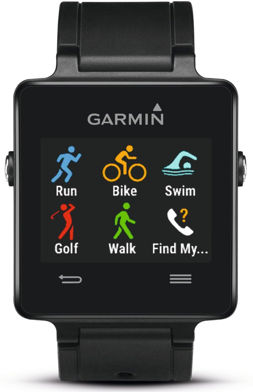 שעון ספורט Vivoactive Garmin, שעון חכם עם GPS ומסך מגע צבעוני ברזולוציה גבוהה