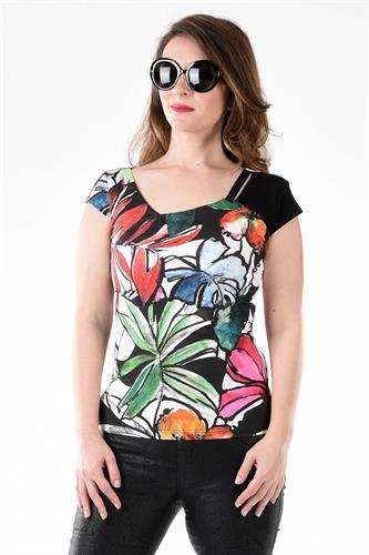 חולצה מוסטנג פרחים