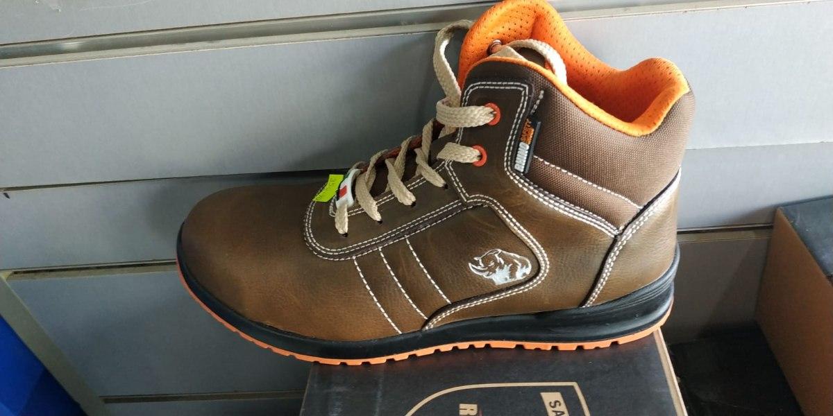 נעלי עבודה רינו עם מגן ברזל (Rhino safetyshoes)
