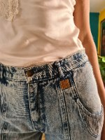 ג'ינס ווש כחול הכי מיוחד וחתיכי מידה L