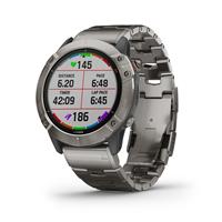 שעון דופק Garmin fenix 6X Pro Solar Edition Titanium With Vented Titanium Bracelet
