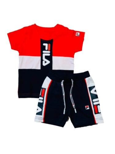 חליפת תינוקות קולור בלוק אדום