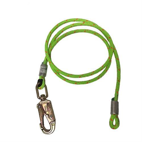 כבל מיקום ותמיכה Rope Logic 3m+טבעת סביבל פלדה