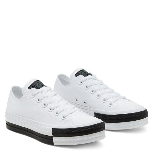CONVERSE ALLSTAR נעלי נשים פלטפורמה צבע לבן|שחור