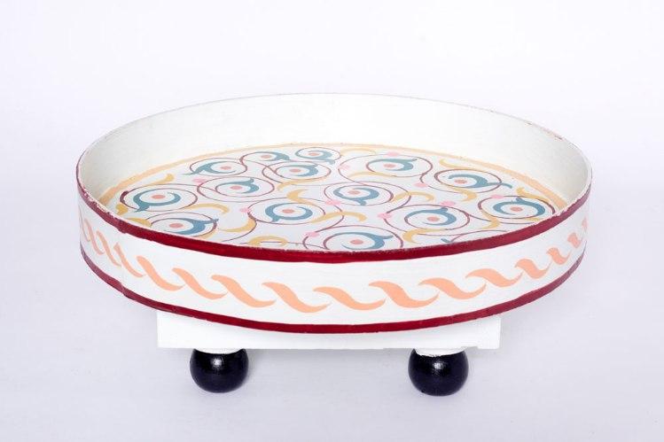שולחן מגש לבן