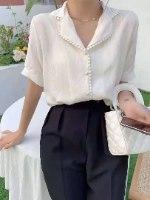 חולצת פונפון לבנה
