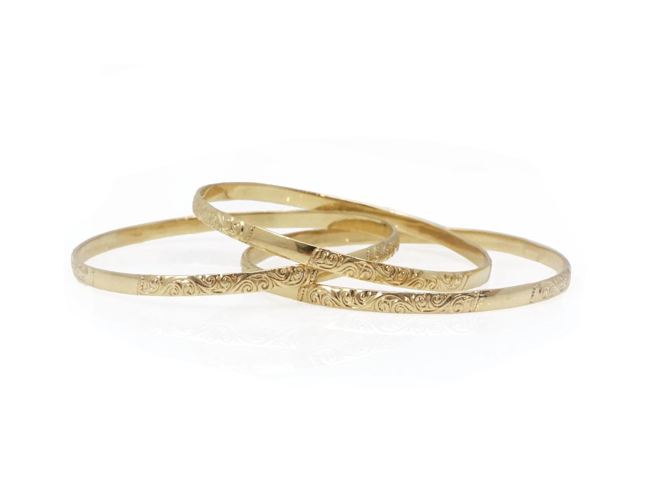 צמיד מרוקאי מעוטר  לאישה צמיד זהב מרוקאי