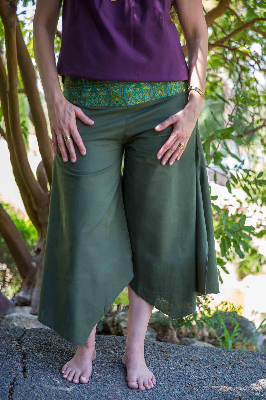 מכנס ג'סי כותנה ירוק
