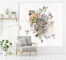 תמונה אבסטרקטית של פרחים