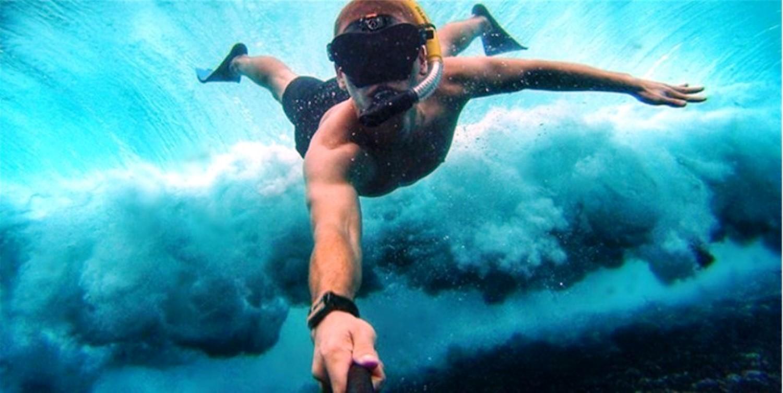 מצלמת פרו אטומה למים וידאו ותמונות 30 מטר צלילה , צניחה, אופנועים אופניים ועוד