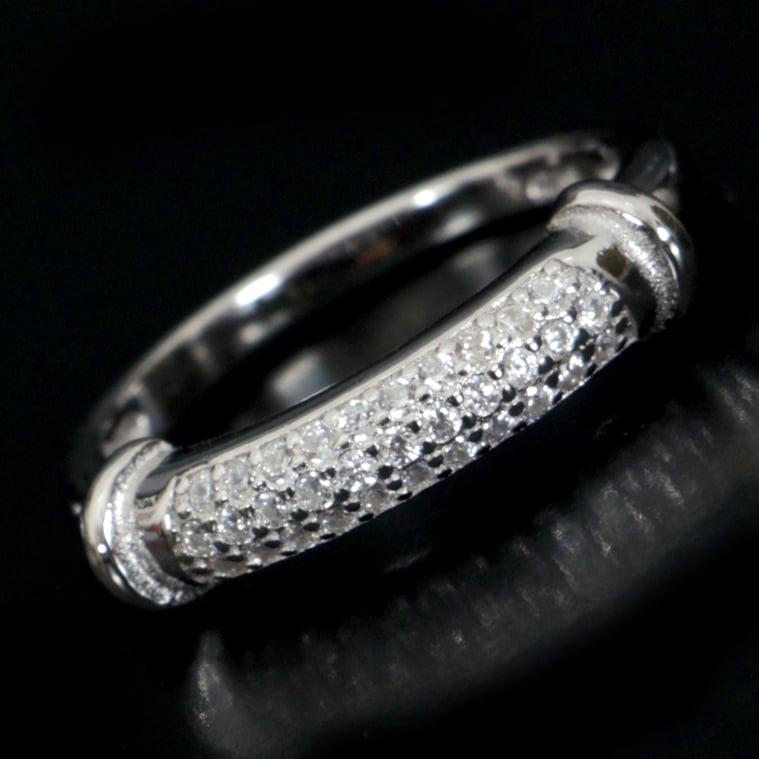 טבעת כסף משובצת זרקונים RG1101