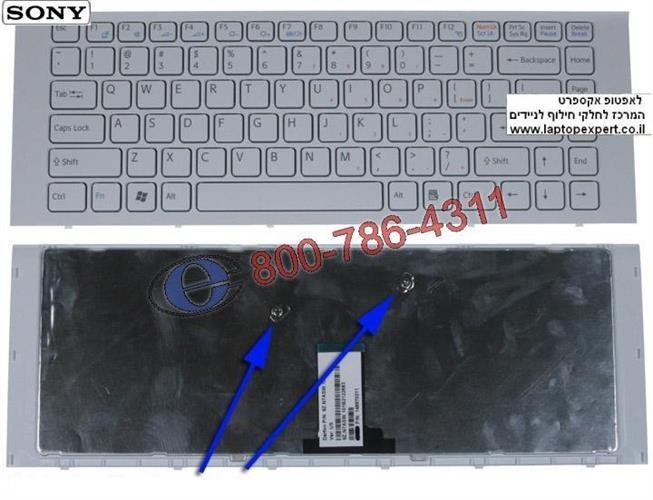 מקלדת למחשב נייד סוני Sony Vaio VPCEG / VPC-EG Laptop Keyboard 9Z.N7ASW.101 , 148970211 , 1-489-702-11 , 148981511
