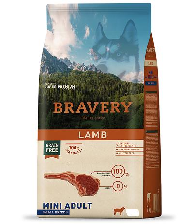 "Bravery כבש שק 4 ק""ג לכלב בוגר"