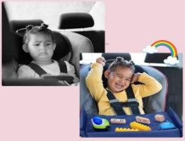 מגש פעילות ואוכל למושב בטיחות ולרכב