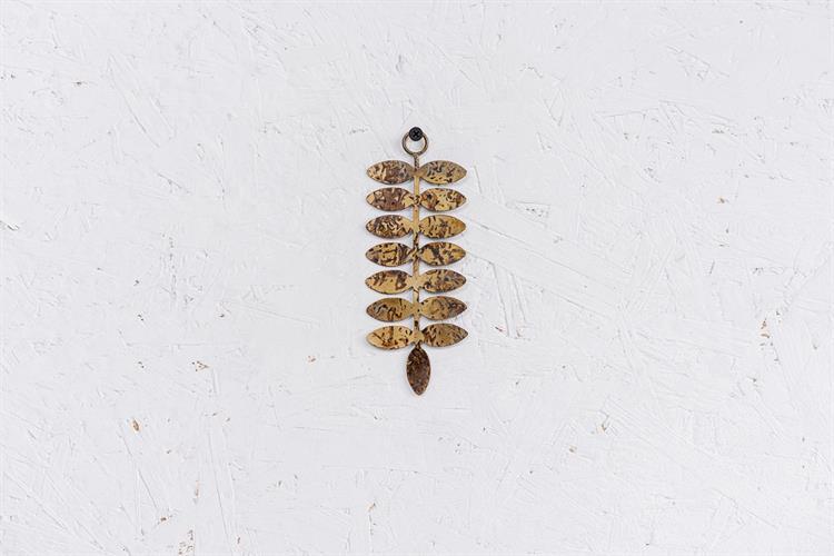 עלה מתכת S - זהב (שפיץ הצידה)