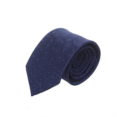 עניבה פייזלי כחול כהה