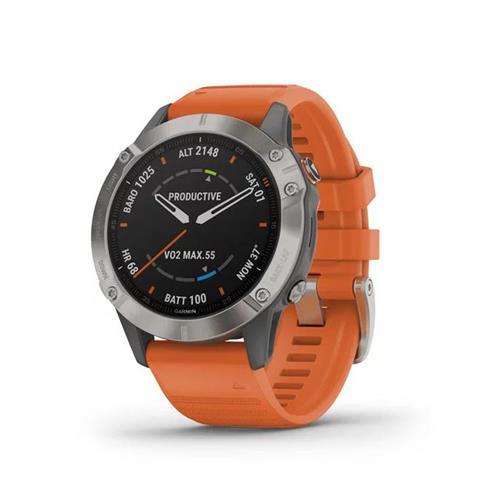 שעון דופק גרמין Garmin Fenix 6 Sapphire Titanium