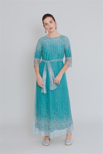 שמלת שלג מקסי ירוקה