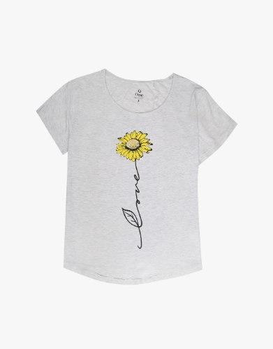 חולצת טריקו פרח