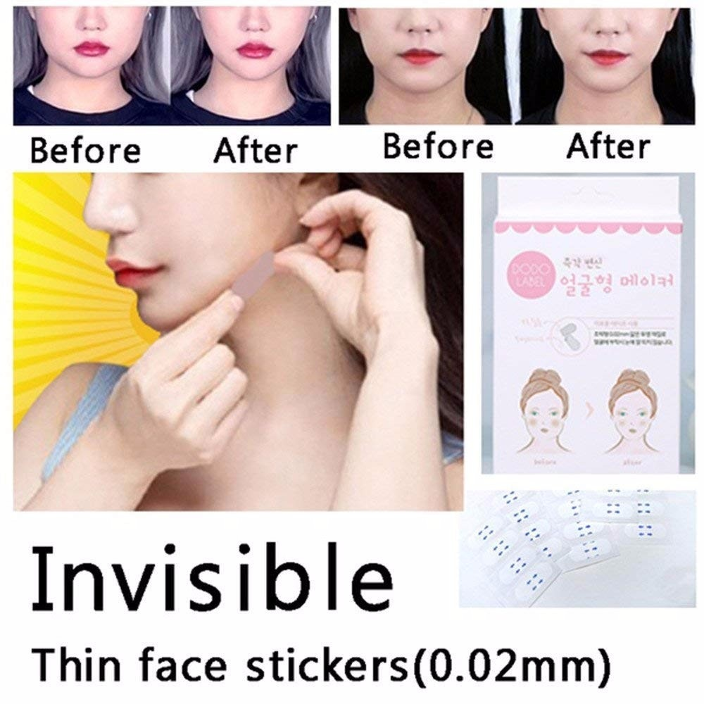 מדבקות בלתי נראות למתיחת אזורי הפנים