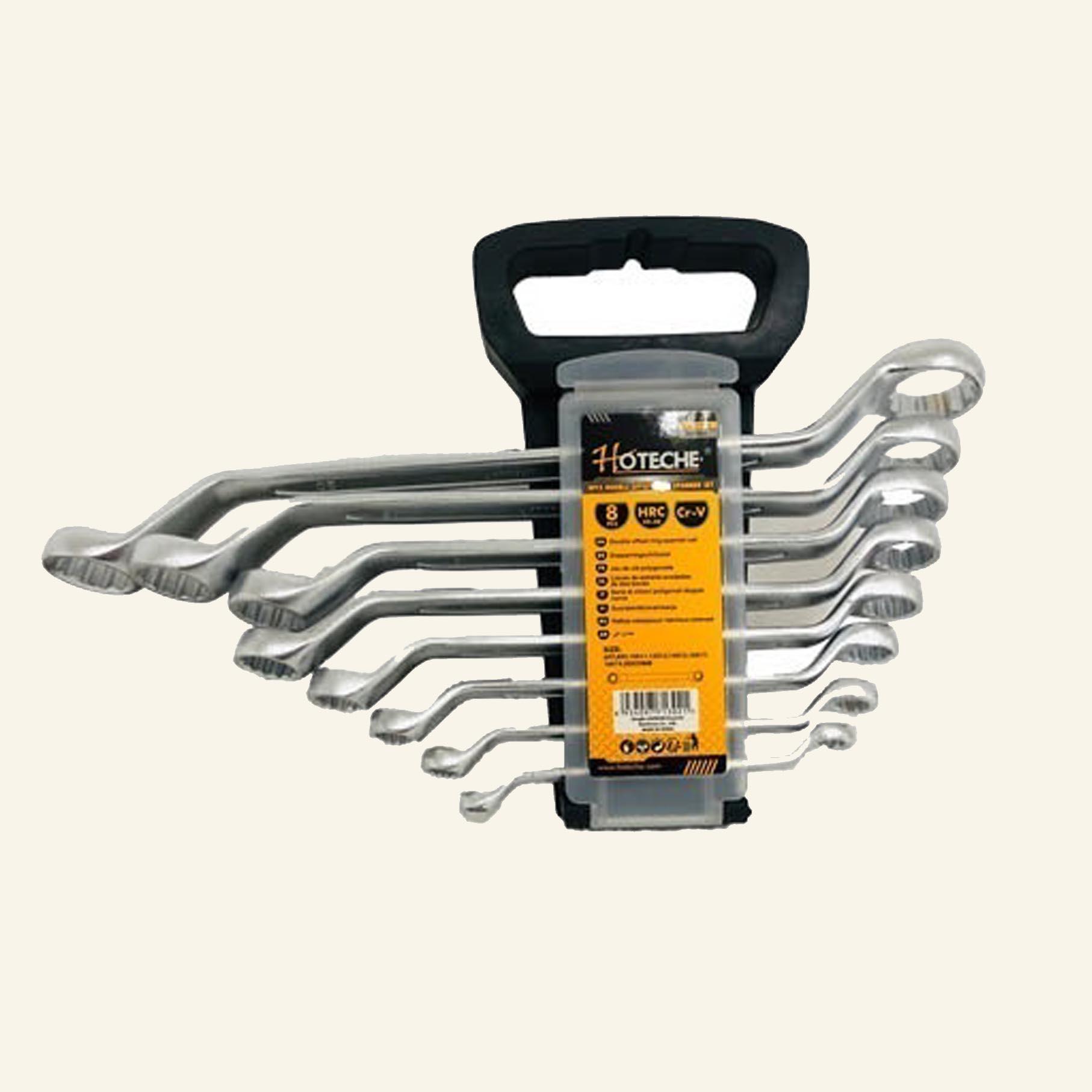 סט 8 מפתחות רינג רינג מכופף