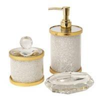 סט אמבטיה רסיטל לבן זהב