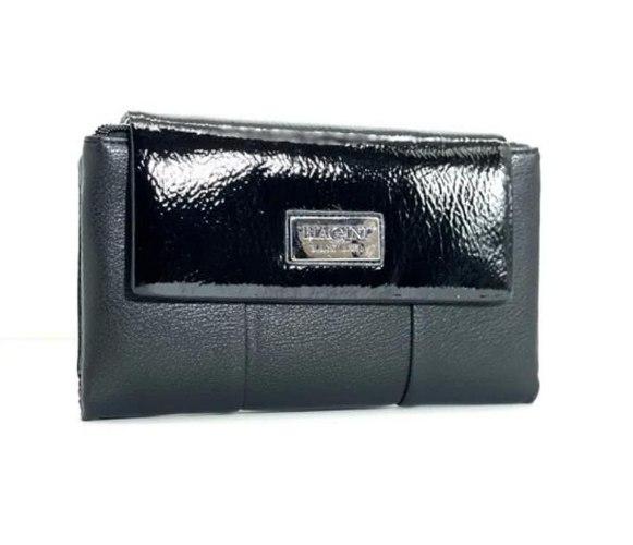 ארנק דמוי עור גדול שחור/לק 4061