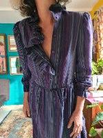 שמלת פסים של מכובדות M/L