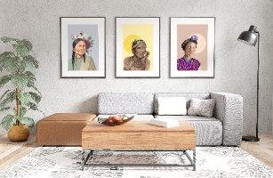הדפס ציור- גואטמלה שבט המאיה